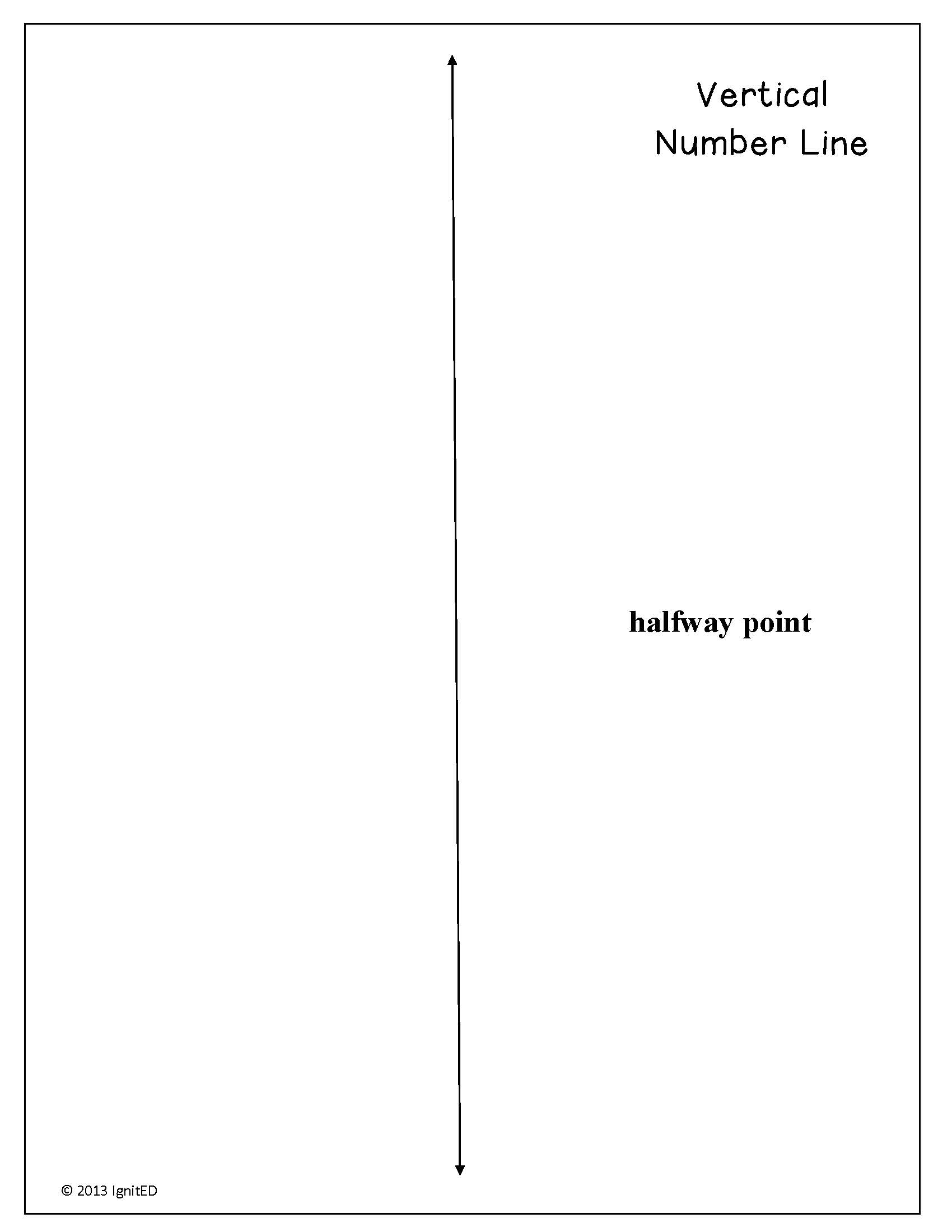 picture relating to Blank Number Line Printable identified as Printable variety line 1 20 pdf