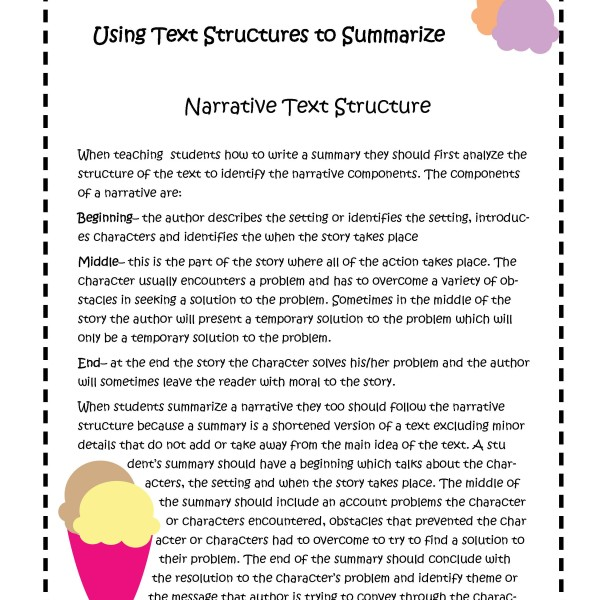 Expository writing structure