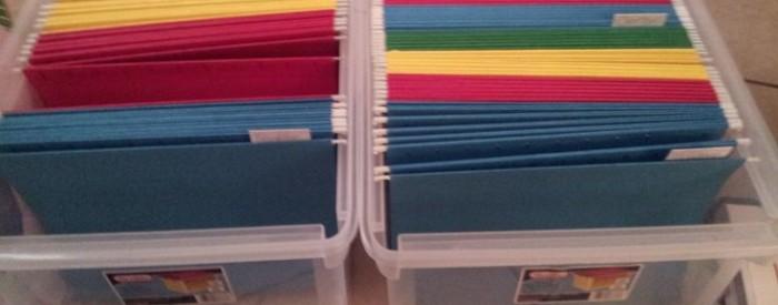 colored folder