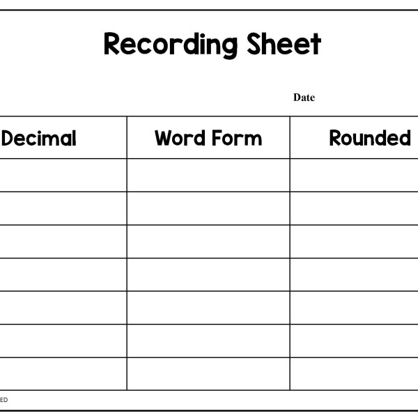 Rounding Decimals with Number Lines IgnitED – Word Form Math Worksheets