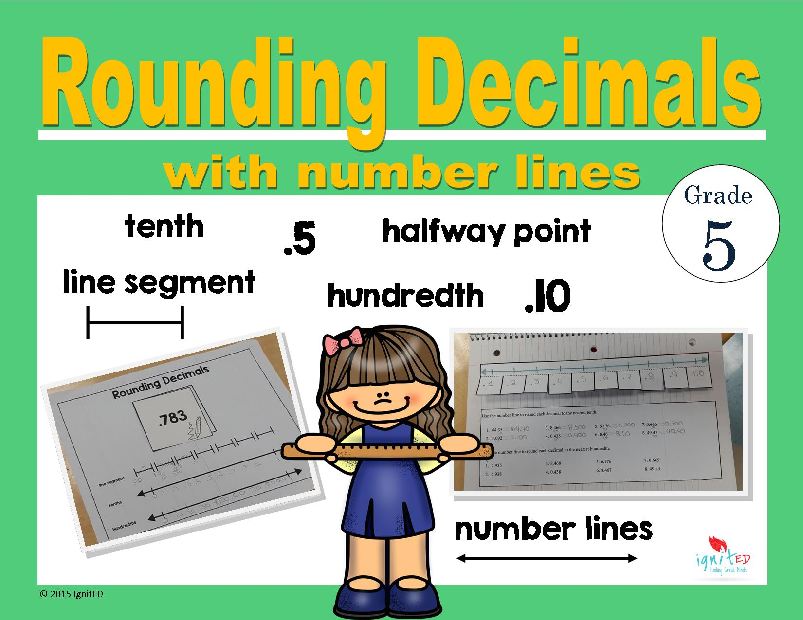 rounding decimals with number lines ignited. Black Bedroom Furniture Sets. Home Design Ideas