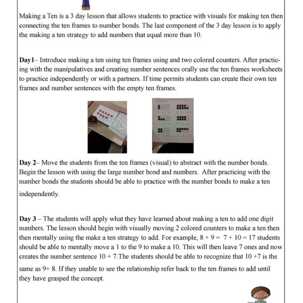 Making Ten Addition Strategy Worksheets - The Best and Most ...