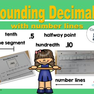 Rounding decimals using number lines