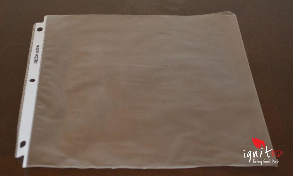 Diy Creating Dry Erase Boards Using Sheet Protectors And