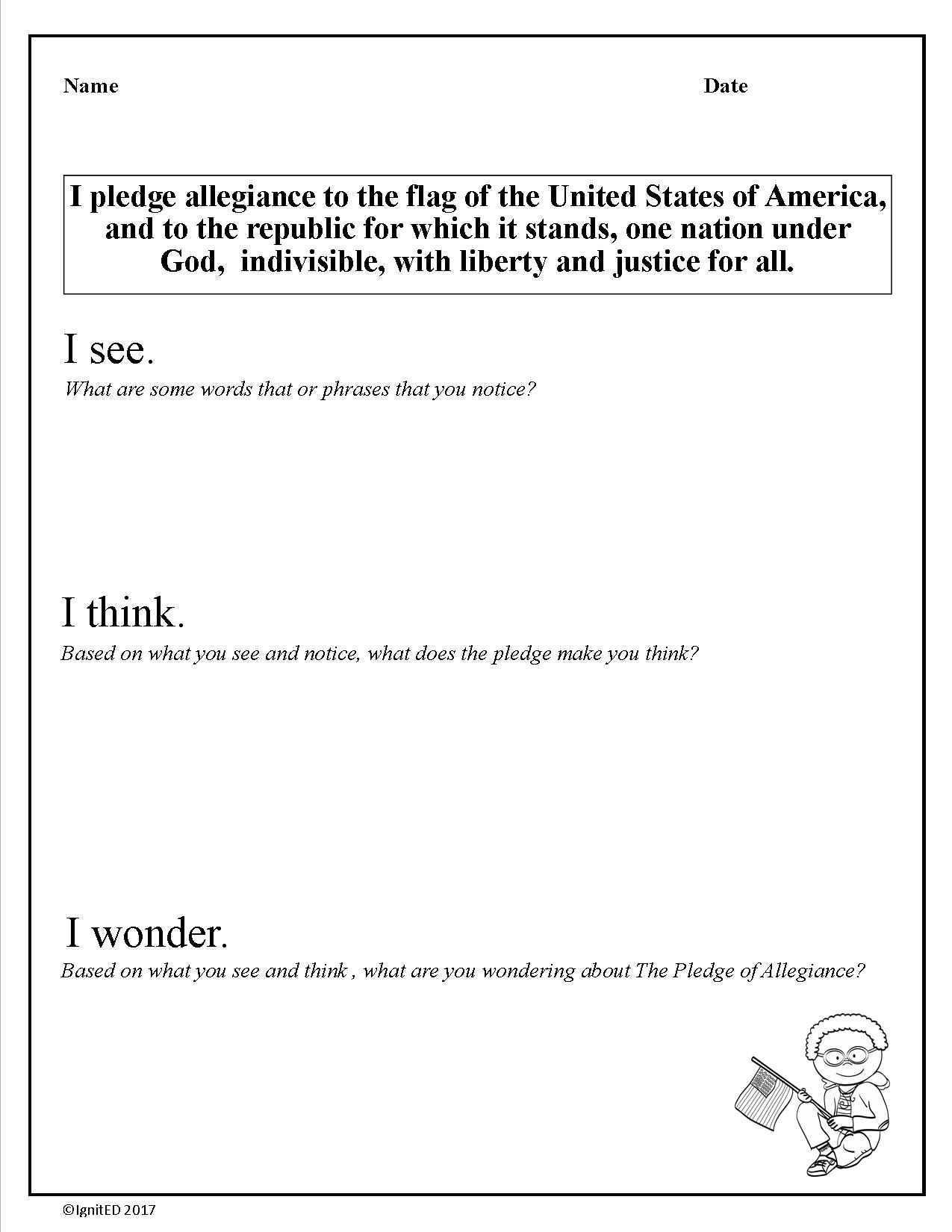 what the pledge of allegiance means to me essay Free pledge of allegiance papers, essays if one walks up to one of these students and asks them about the meaning and the origin of this pledge.